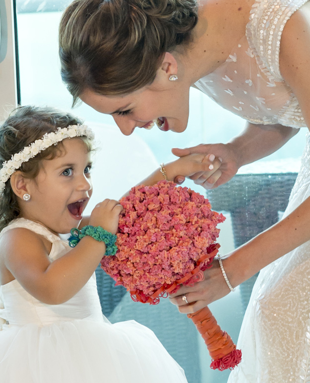 wedding flower bouquets_rubber band_bounce rubber bands
